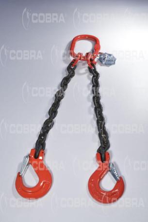 vendita online Braca / Tirante in catena G80 2 tratti - gancio con sicurezza
