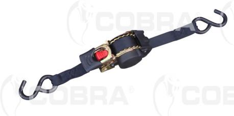 vendita online Ancoraggio auto-avvolgibile 25mm con ganci