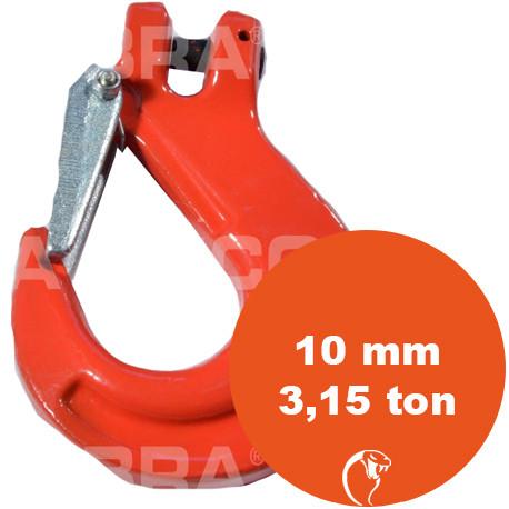vendita online Gancio con sicurezza Clevis G80 10 mm 3,15 Ton