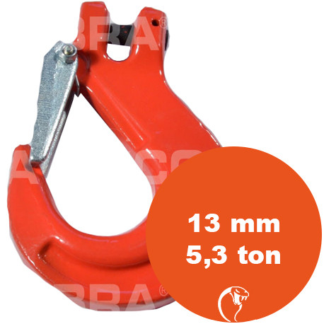 vendita online Gancio con sicurezza Clevis G80 13 mm 5,3 Ton