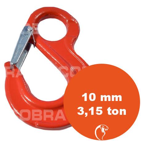 vendita online Gancio con sicurezza ad occhio G80 10 mm 3,15 ton