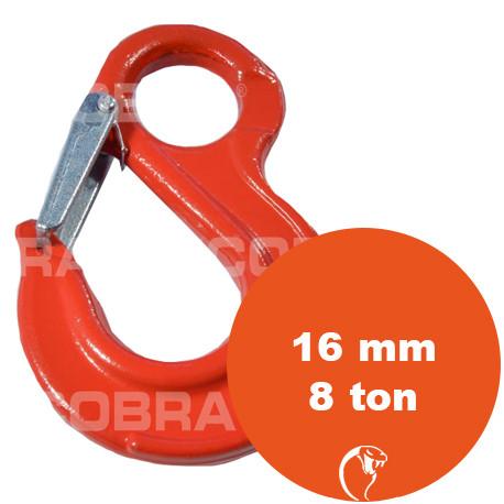 vendita online Gancio con sicurezza ad occhio G80 16 mm 8 ton