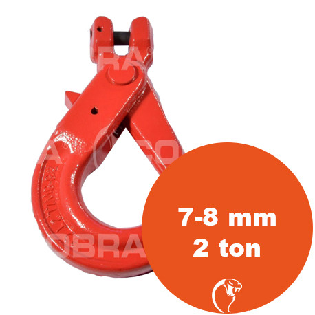 vendita online Gancio self-locking Clevis G80 7-8 mm 2 ton