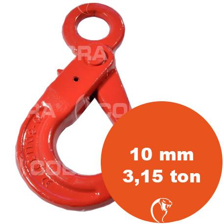 vendita online Gancio self locking and occhio G80 10 mm 3,15 ton