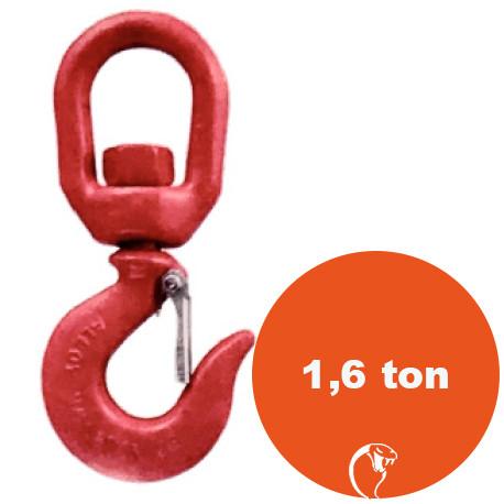 vendita online Gancio girevole in acciaio al carbonio 1,6 ton